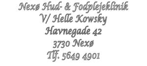 Book tid hos Nexø Hud- & Fodplejeklinik